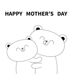happy mothers day bear holding bahugging vector image