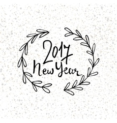 Happy New Year 2017 modern lettering design New vector