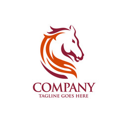 Head horse logo template vector