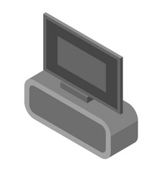home tv icon isometric style vector image