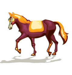 Horse decoration vector
