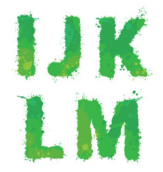 i j k l m handdrawn english alphabet vector image