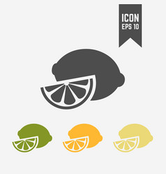 lemon isolated colored icon vector image