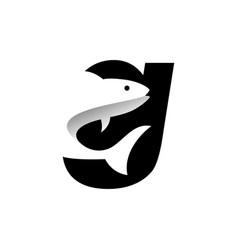 Letter g fish logo vector