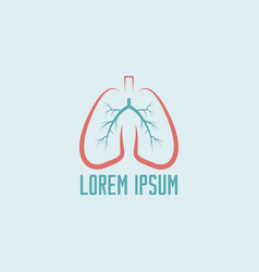 lungs isolated logo template vector image
