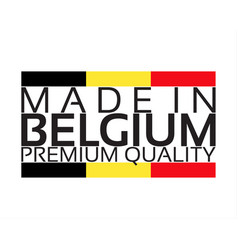 made in belgium icon premium quality sticker vector image