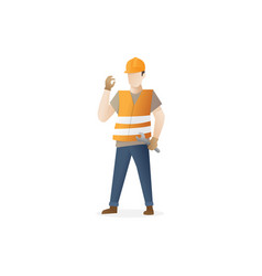 male construction worker vector image