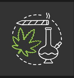 marijuana culture chalk concept icon vector image
