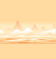 Martian sand dunes game background vector