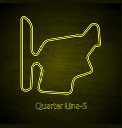 mountain rally drive circuit outline vector image