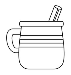 mug mexican drink icon outline style vector image