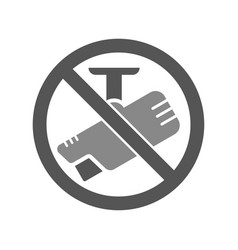 no camera sign with label for print and digital vector image