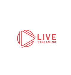 play live streaming icon design template vector image