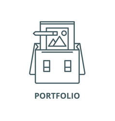 portfolio line icon linear concept vector image
