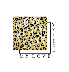 print on a t-shirt with a leopard pattern vector image