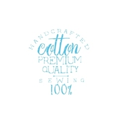 Quality Cotton Vintage Emblem vector image
