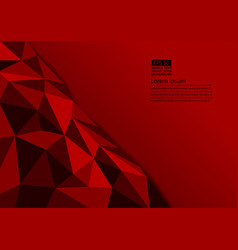 red color polygon abstract background with copy vector image