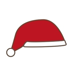 santa claus hat isolated icon vector image
