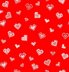Seamless texture with hearts embroidery vector image