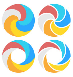 set of spiral elements template vector image