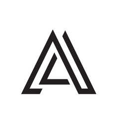 simple letter a initial logo vector image