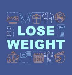 Slimming lose weight word concepts banner healthy vector