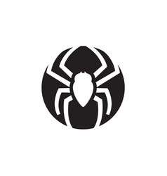 Spider graphic silhouette template isolated vector