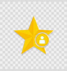 star icon user icon vector image