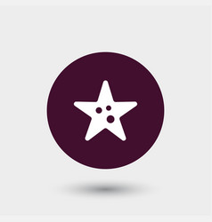 starfish icon simple vector image