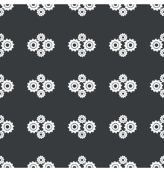 Straight black cogs pattern vector