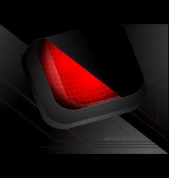 Techno red lighting scene vector
