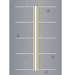 Top view of empty car park space vector