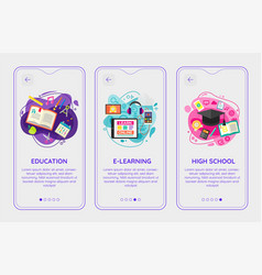 Trendy design and development mobile app splash vector