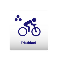 triathlon sport symbol stickman solid icon vector image