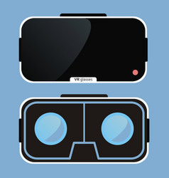 virtual reality glasses vr technology vector image