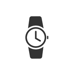 Watch icon black wristwatch vector image