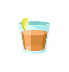 whiskey with lemon cartoon vector image