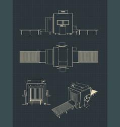 X-ray baggage scanner drawings vector