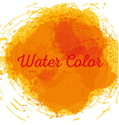 Yellow watercolor art paint vector