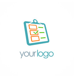 check list approve logo vector image
