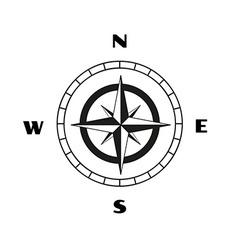 compass sketch vector image