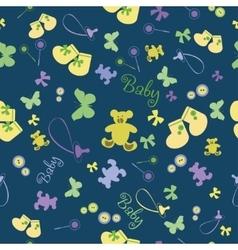 Cute Newborn seamless pattern vector image vector image
