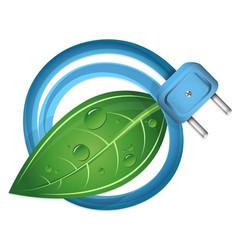 eco electrical plug vector image vector image