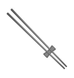 wooden chopsticks in black design vector image vector image