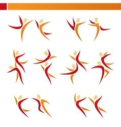 Abstract human logo template set vector