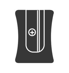 black pencil sharpener graphic vector image