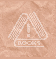 books attention vector image