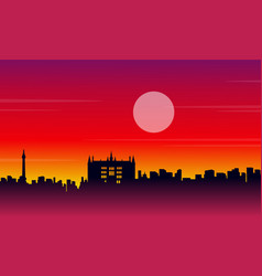 Landscape city london building silhouettes style vector