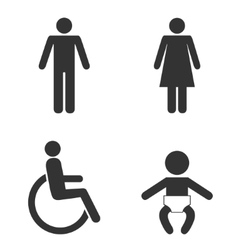 Set of toilet people signs vector image