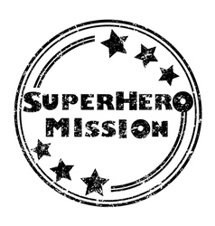 superhero mission vector image vector image